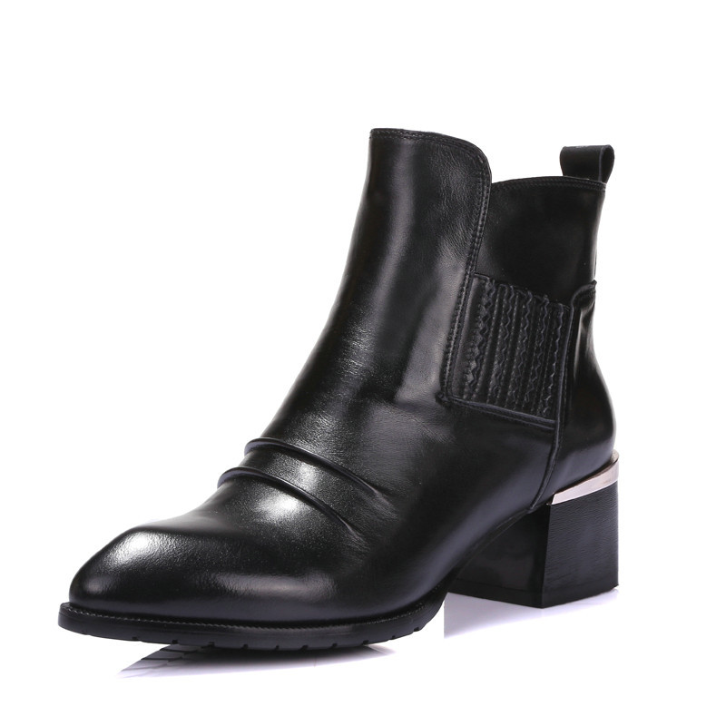 VINLLE High quality fashion genuine leather women martin boots round toe lace-up casual woman ankle boots size 34-39