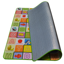 Foam Floor Baby Activity Play Mat Gym Educational Learning Padded Fruit Alphabet Comping Picnic Mat Crawl Mat Large Single Side(China (Mainland))