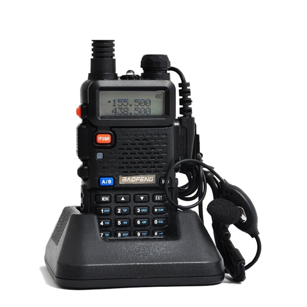 Baofeng uv 5r Walkie Talkie 5W Dual Band Portable Radio UHF&VHF UV 5R 136-174MHz&400-520MHz Ham Radio A0850A(China (Mainland))
