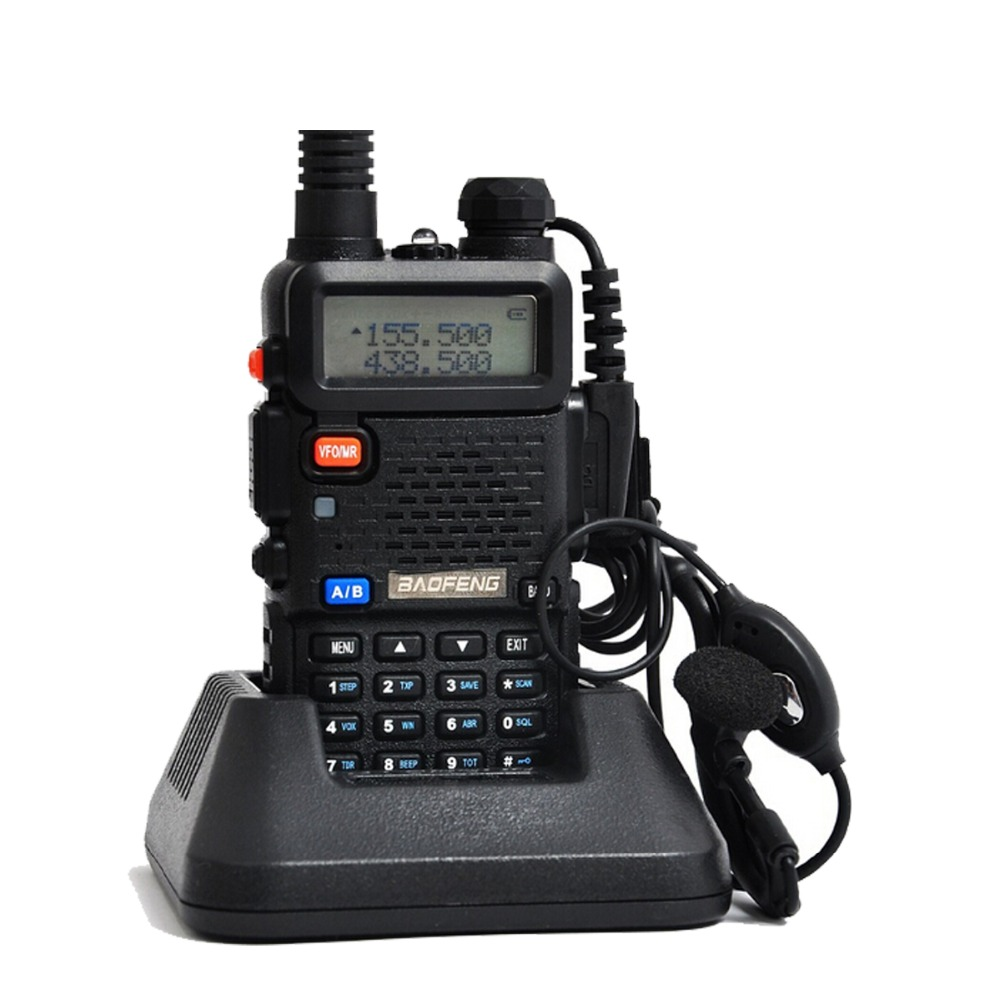 Baofeng uv 5r Walkie Talkie 5W Dual Band Portable Radio UHF&VHF UV 5R 136-174MHz&400-520MHz Ham Radio A0850A(China (Mainland))