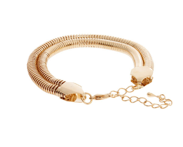Free Shipping Exquisite Funky Double Golden Snake Chain Bracelet Highest Quality New Fashion Jewlry For Women Wholesale JP123016(China (Mainland))