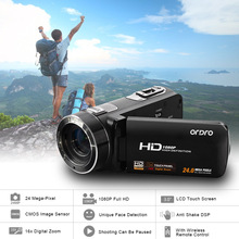 NEW ORDRO HDV-Z8 Digital Video Camera Full HD 1080P 24MP 16x Digital Zoom Mini Camcorder with Digital Rotation LCD Touch Screen(China (Mainland))