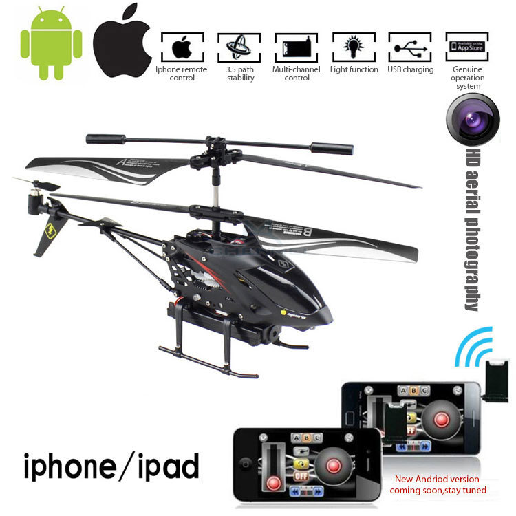 Hot sale helicopter with camera can be operated by iphone and Android 2.4G 4CH 6axis gyro professional anti-break mini rc drone(China (Mainland))