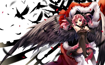Living room home wall decoration fabric poster pixiv fantasia dark gothic angel angels 4 size