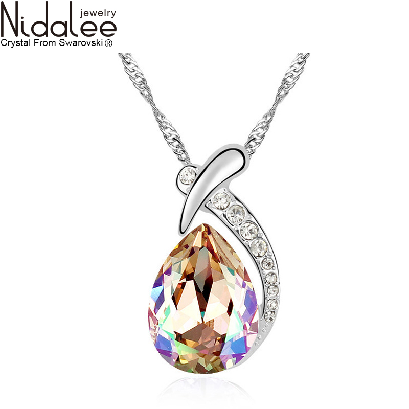 Statement Necklace For Women 2016 Original Design Crystal From Swarovski Necklaces & Pendants body chain Wedding Party Jewelry(China (Mainland))