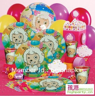 Free shipping--Children's birthday party paper plate napkin and paper cups anion napkin