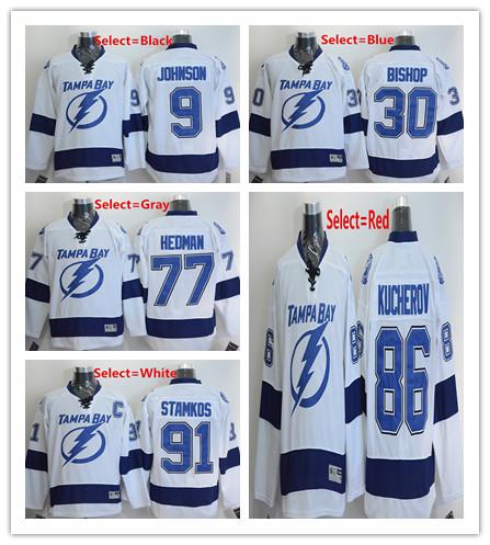 672dc00898f ... NHL Authentic Salute to Mens 9 Tyler Johnson 91 Steven Stamkos 30 Ben  Bishop 77 Victor Hedman 86 Nikita Kucherov Mens Reebok Tampa Bay Lightning  ...