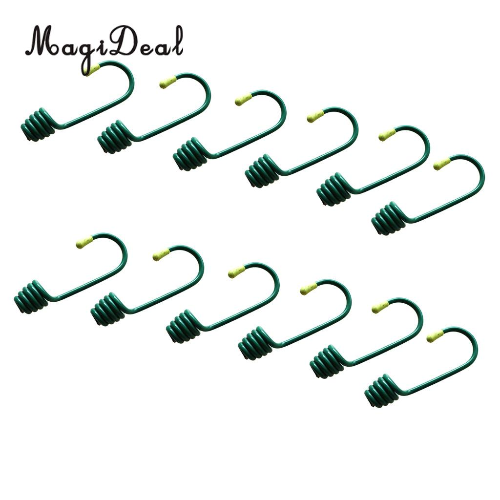 MagiDeal 12Pcs Durable Plastic Coated Iron Wire Hooks for 8mm Elastic Shock Cord Camping Tent Boat Cover Trailer Bungee Rope