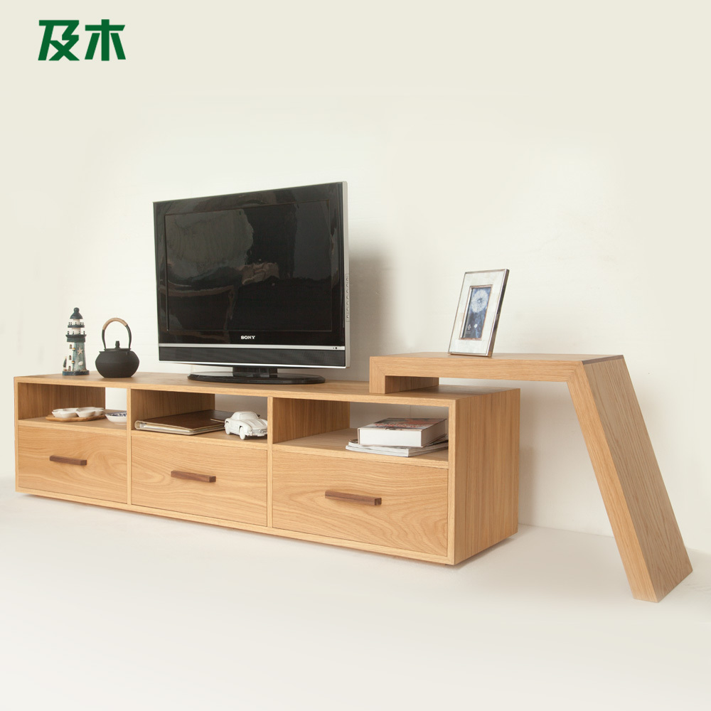 Wooden furniture and creative fashion minimalist scandinavian modern design wood veneer tv - Wood furniture design ...