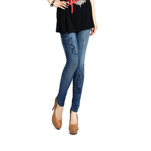Сексуальные женщины леди джинсы кожа да кости Jeggings эластичный тонкий поножи брюки новые 4558(China (Mainland))