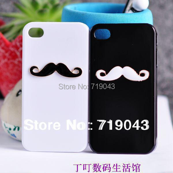 10pcs/lot New Hot LEON Chaplin Sexy 3D Beard Mustache Hard Back Case Cover For Apple iPhone6 Couple & Lovers , free shipping