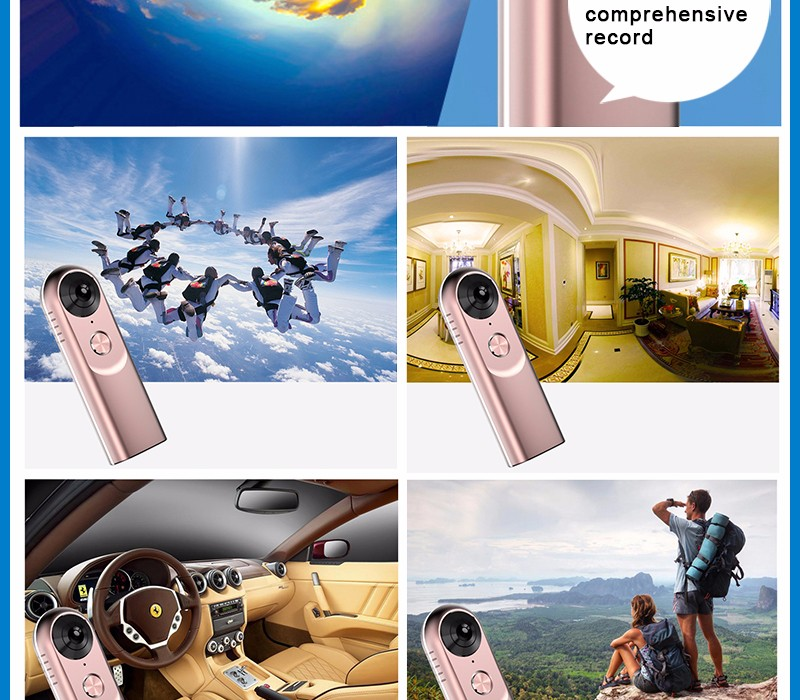 Original NH720 PRO THETA insta360 Cam Compact Spherical 360 VR Camera for iPhone 7 / 7 / 6s / 6s Plus / 6 Plus android