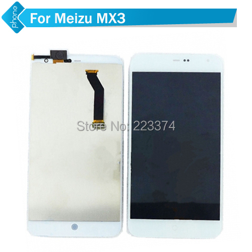 100% Original LCD Screen Display Touch Screen Digitizer For MEIZU MX3 Assembly  white  Free Shipping