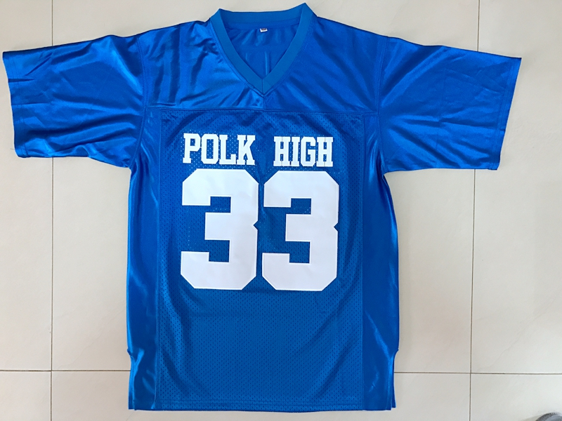 American Football Jersey Married with Children Al Bundy 33 Polk High Football Jersey Blue All Stitched(China (Mainland))