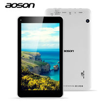 Multi-Languages Tablet PC 7 inch Aoson M751S-BS Quad Core Allwinner A33 512M/8G Dual Camera 0.3MP Android Tablet External 3G(China (Mainland))