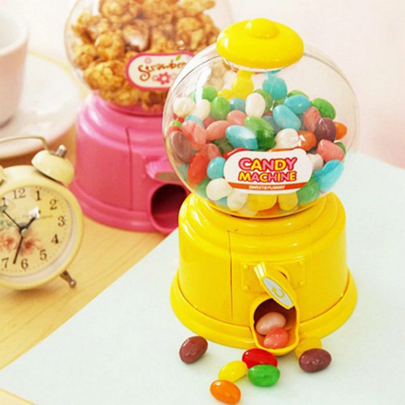 Mini Hot Magic Snack Candy Sweet Nut Gumball Dispensing Machine Boxes Gift Toy Box Decorative Gift For Chridren(China (Mainland))