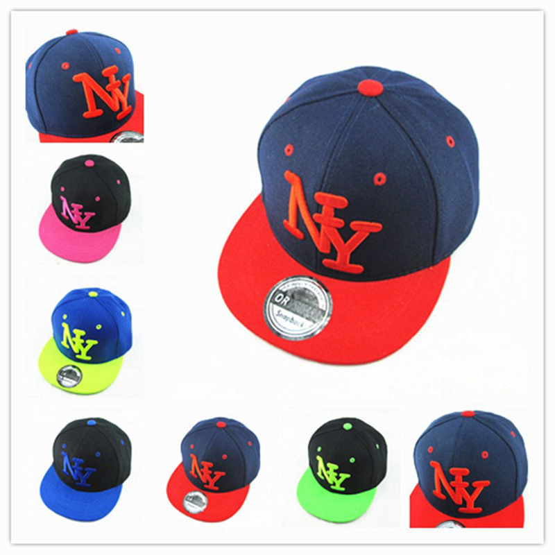 new arrival ny kids snapback cartoon embroidery cotton baseball cap boys girls snapback cool. Black Bedroom Furniture Sets. Home Design Ideas