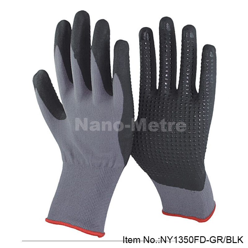 NMSafety 6 pairs nitrile dotted palm glove,foam nitrile glove,safety working gloves suppliers<br><br>Aliexpress