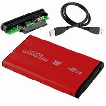 Red HDD Hard Drive Disk Mobile External Enclosure Box Case 2.5″ SATA USB 2.0 EL5018