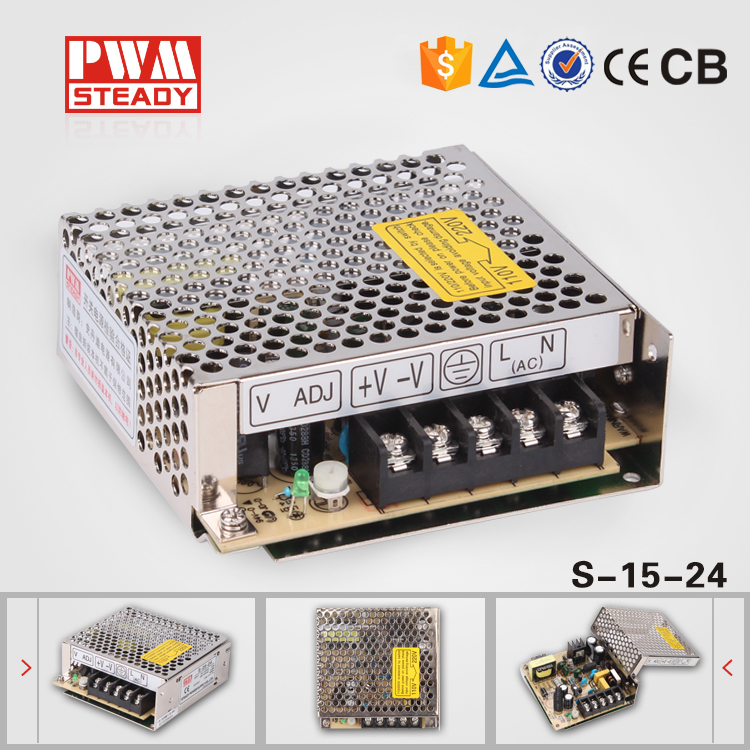 (S-15-24) Professional switching power supply manufacturer 15W 24volt cctv power supply(China (Mainland))