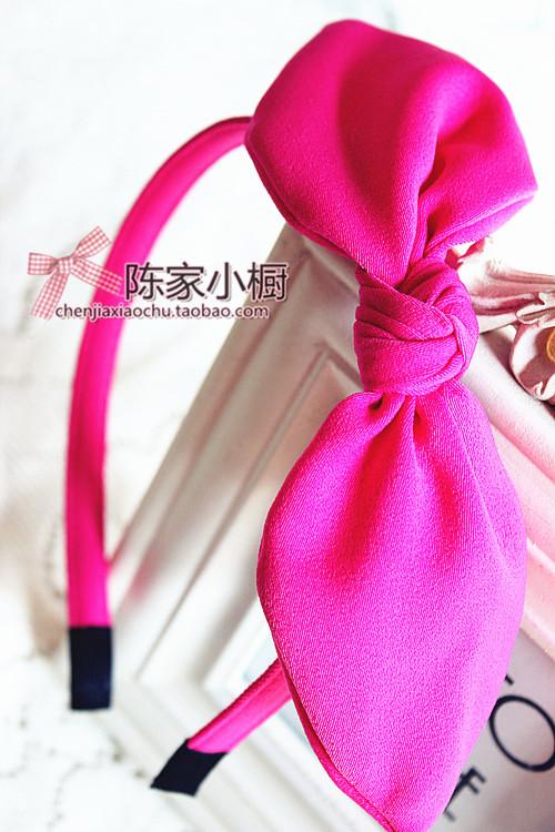 2014 Spring Rabbit Ears Bow Hair Bands Candy Color Headband Hair Pin Hair Accessory Free Shipping(China (Mainland))