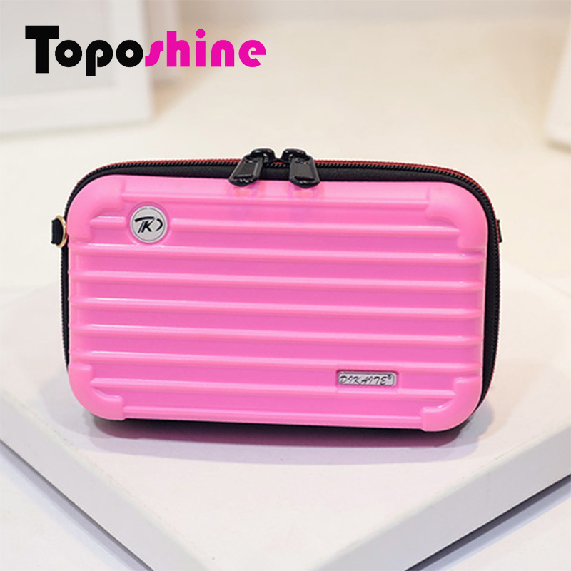 Trolley Case style Candy Colors Trunk Bag Cute Women Shoulder Bag 10 Colors Chain Street Summer Style ABS Mini ShoulderBag 1152(China (Mainland))