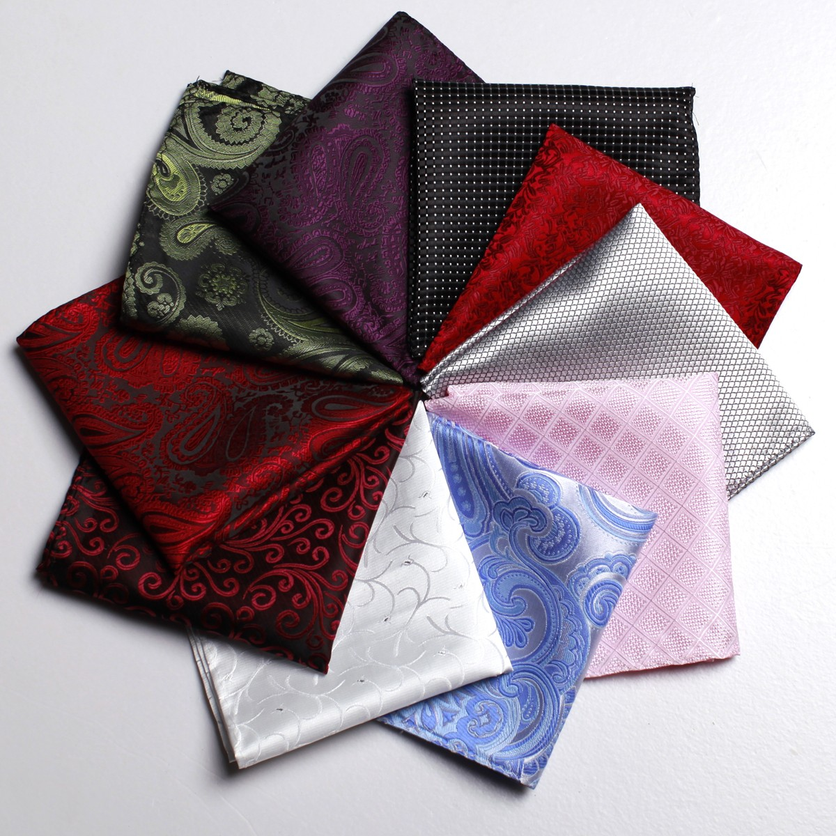 Fashion Men Pocket Square Polyester & Silk, Floral Print Handkerchief , Gift for Wedding Party Suit Business Office(China (Mainland))