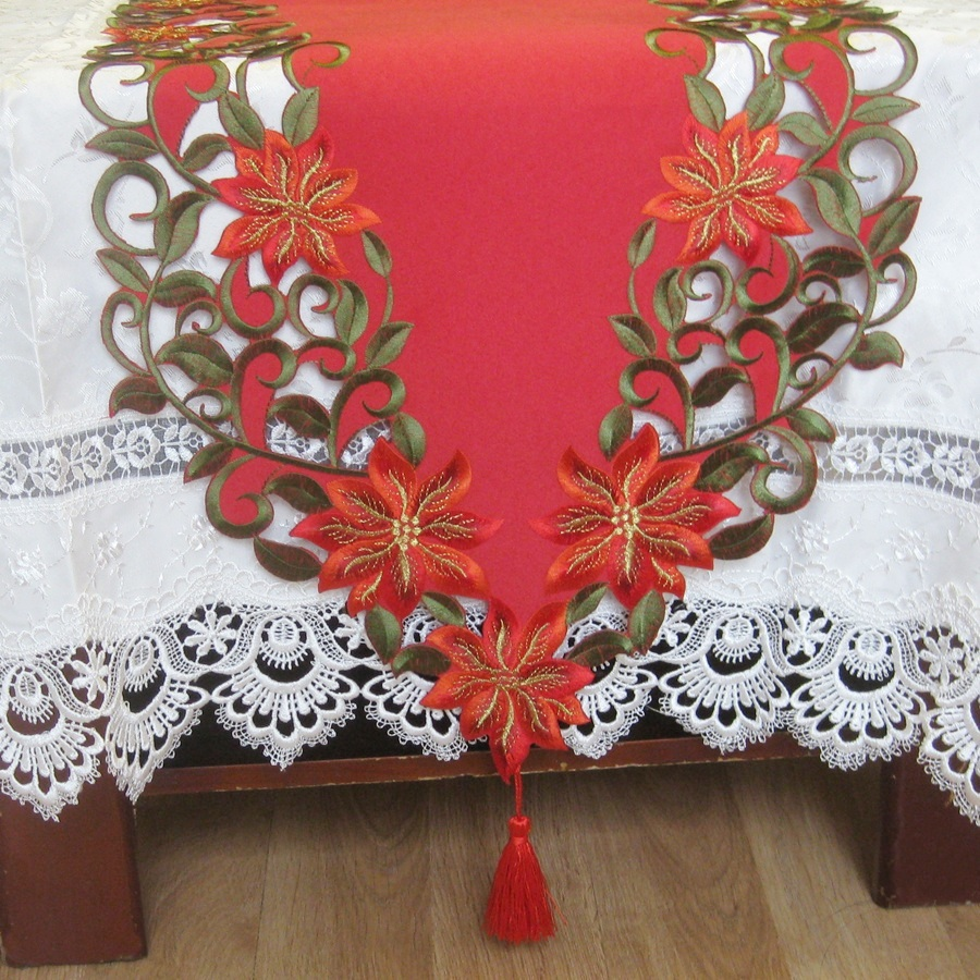 Embroidery Runner by embroidery Xmas Cutwork Table Tablecloth Satin patterns Table Hand runner table