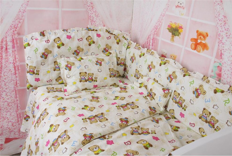 5 Pcs/sets 120*70cm 100% Cotton Crib Baby Bedding Sets,Dropshipping Cartoon Baby Cot Sheets,Designer Bedding Brand Bedding Set<br><br>Aliexpress