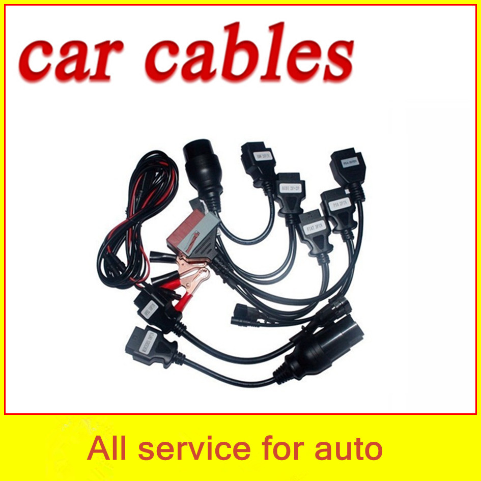 Hot sale! TCS cdp car cables full set 8 multi-brand OBD2 OBDII cars best price - welcome to freyr's store