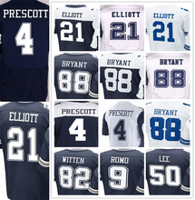 Men's 4 Dak 21 Ezekiel 22 Emmitt 50 Sean 82 Jason 88 Dez Best quality jersey(China (Mainland))