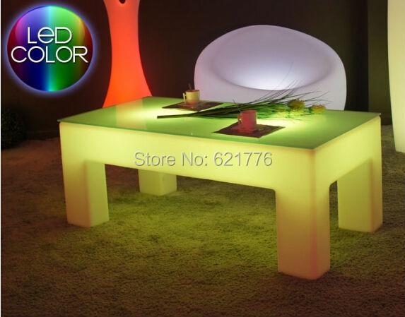 Classic Rectangle luminous coffee table LED tea table light Office living room furniture luxury hotel/KTV/living room/bar tables(China (Mainland))