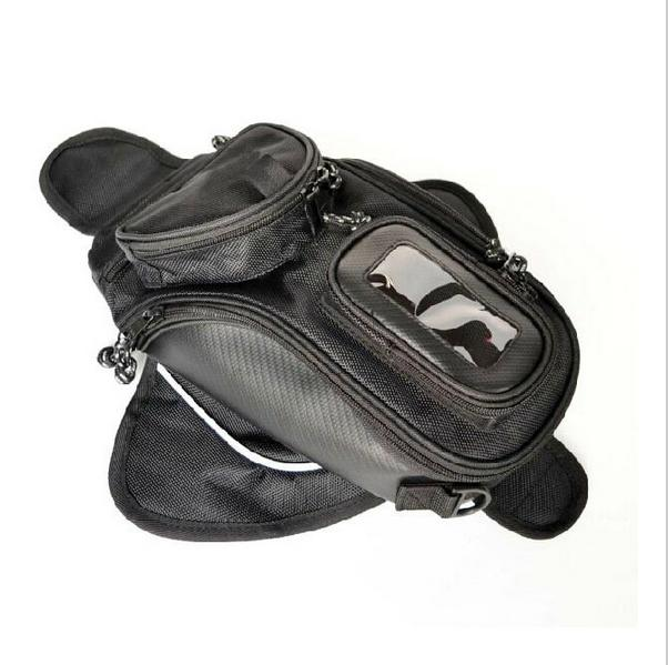 Free shipping! new high quality Black Oil Fuel Tank Bag Motorcycle Magnetic top cases Motorbike Oil FuelTank Bag(China (Mainland))