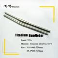 free shipping of MTB Titanium bike handlebar flat handlebar 31 8 or 25 4 600 620