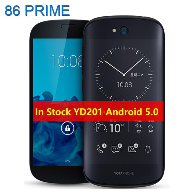 """Оригинал Yota Yotaphone 2 YD206 YD201 Двойной Экран 4 Г Мобильный Телефон Qualcomm Snapdragon 800 5.0 """"сенсорный EInk FHD 2 Г 32 Г Смартфон"""