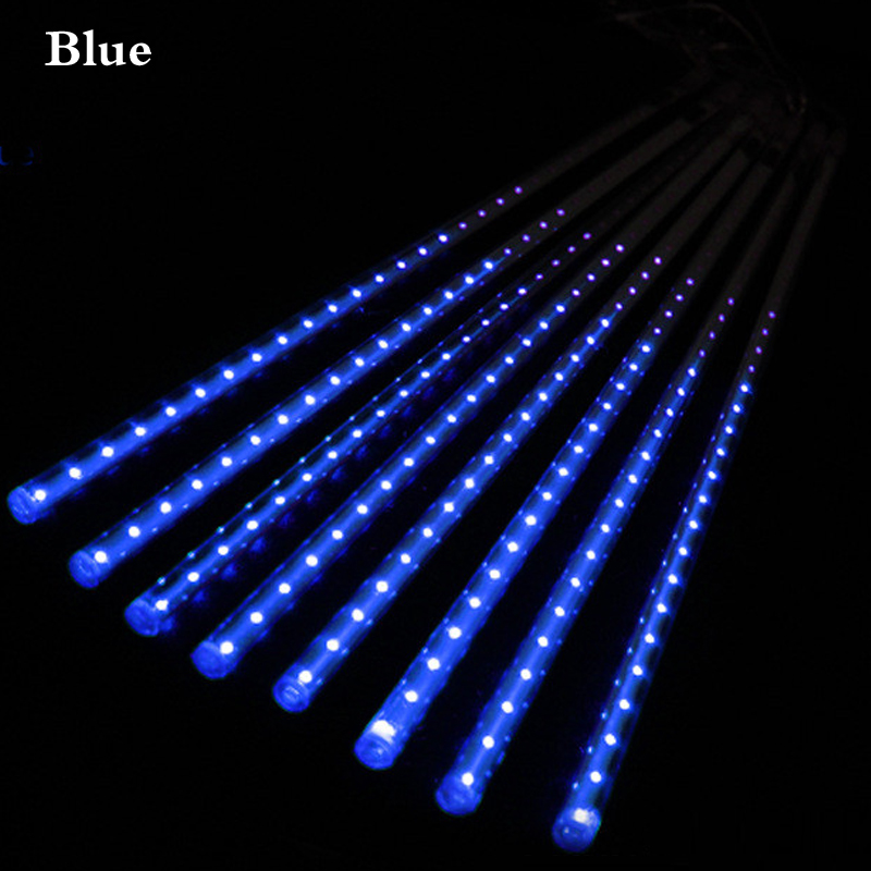Multi-color 30CM/50CM Meteor Shower Rain Tubes AC110-240V LED Christmas Lights Wedding Party Garden Xmas String Light Outdoor(China (Mainland))
