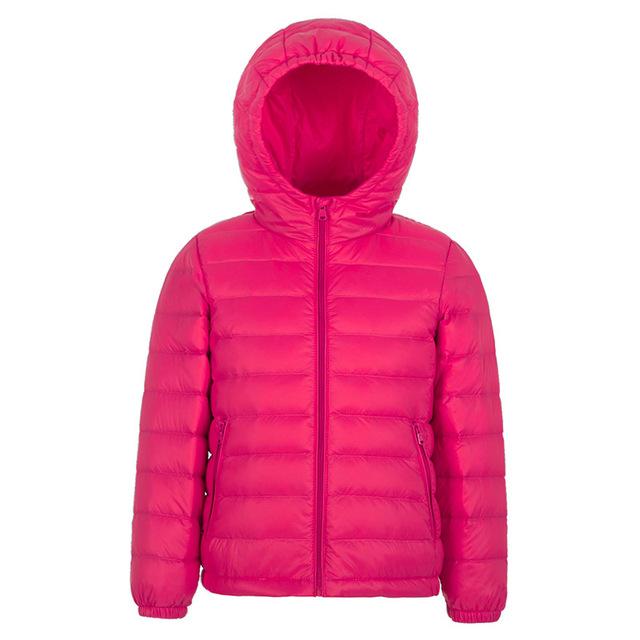 Дети Пуховик Девушки Парни Ultra Light Пальто Зимой Дети Куртка Легкий Капюшоном Твердые Теплый Верхняя Одежда Повседневная Одежда