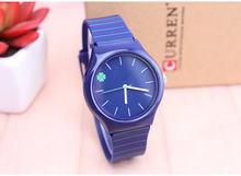 Reloj femenin zegarek dla pań wodoodporny zegarek kwarcowy czterolistna koniczyna dial stuedent dzieci galaretki zegarka kobiet zegarek silikonowy(China)