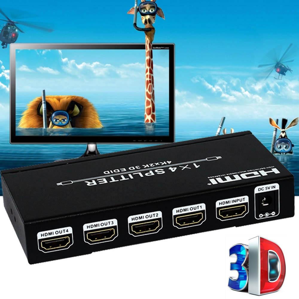 Hot sale Video Converter HDMI V1.4a HDMI Matrix 1 Input to 4 Output Switch Switcher Splitter Amplifier 3D 4k*2k 48bite(China (Mainland))
