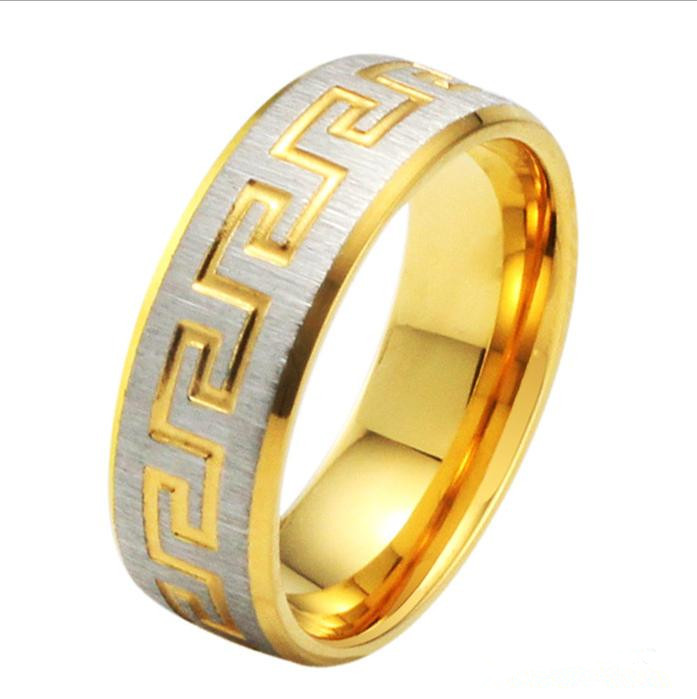 free shipping 255 gold ring engraving jewelry exquisite