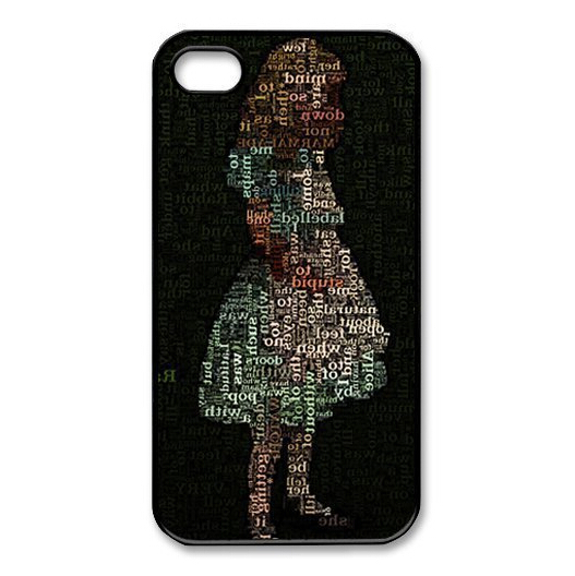 fashion trend Custom Girl in Wonderland data girl Protective Cover Case For iPhone 6 4.7 inch(China (Mainland))