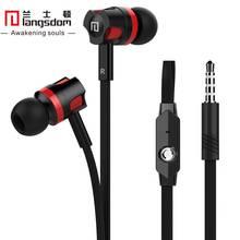 Langsdom JM26 Hot In-Ear Earbud Earphone Handsfree with Mic Remote for iphone xiaomi Mobile Phones Computer mp3/mp4 Headphones