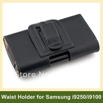 Leather Flip Case Waist Holder for Samsung Galaxy S2 SII i9100 Free Shipping