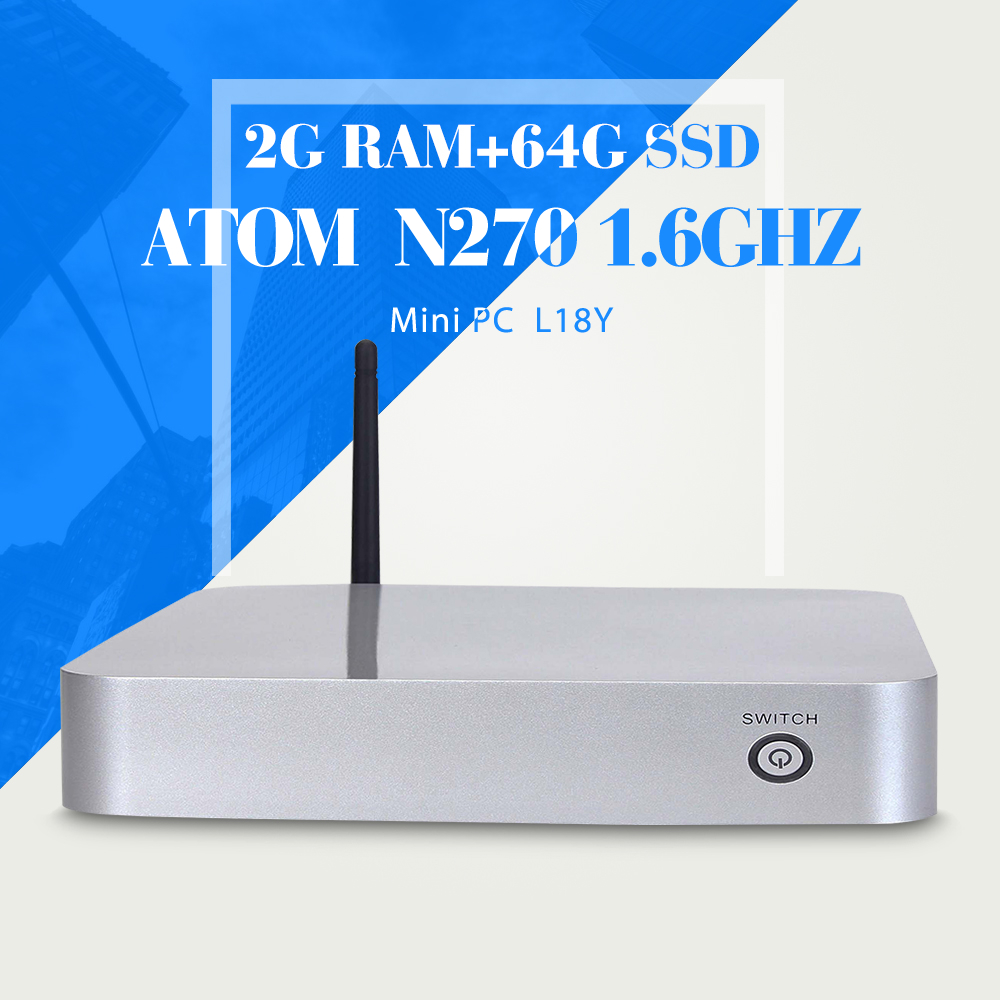 XCY N270 N450 2g ram 64g ssd+wifi office computer cheap server computer laptop desktop computer mini pc thin client(China (Mainland))