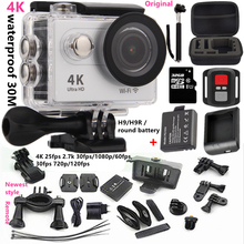 "Original h9/h9r action camera ultra HD wifi 4k 25/fps1080p/60fps 2.0""screen 170 lens  go pro style underwater 30m sport camera(China (Mainland))"