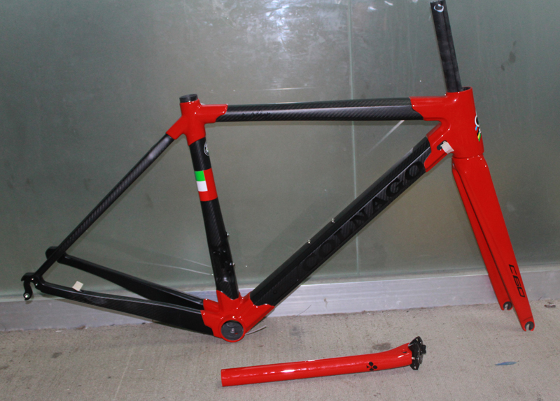 Red black complete carbon bike frame T1000 carbon road frame carbon frame BB386 3K road bicycle carbon frameset Free Shipping(China (Mainland))