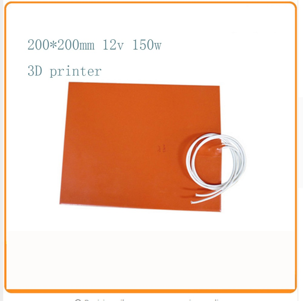 vendita calda 200x200mm silicone riscaldatore letto per stampante 3d silicone heater pad Used for dust control of dust collector(China (Mainland))