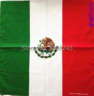 "Mexico Bandana 22""x22"" Motorcycle MC BIKER Doo Rag handkerchief headwrap 100% Cotton(China (Mainland))"