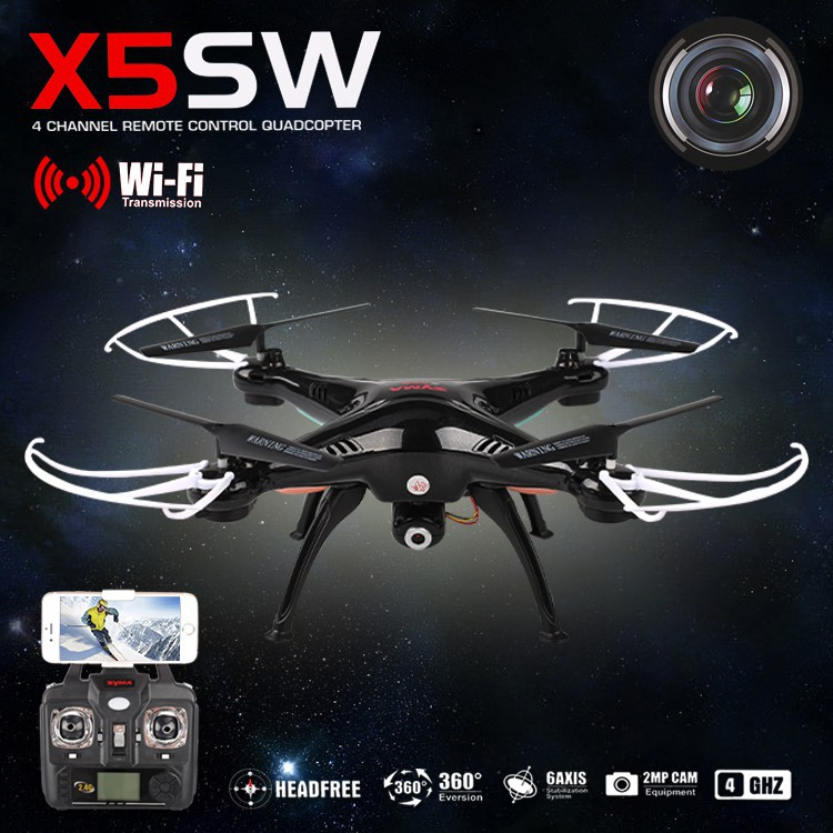SYMA X5SW / X5SW-1 WIFI RC Drone Quadcopter with FPV Camera Headless 6-Axis Real Time RC Helicopter Quad copter Toys<br><br>Aliexpress