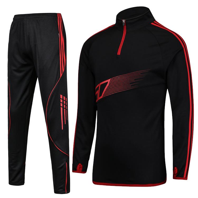15 16 Men Sport Running Football Set Long Jacket Pants Suit Kids Soccer Training Skinny Leg Pants Pantalon Tracksuits Sportswear(China (Mainland))